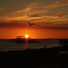A Brighton sunset by Roxy J