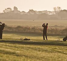 Golfers at Dawn by Paul Wilkin