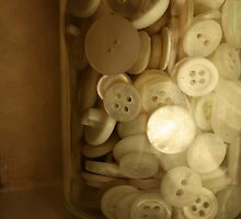 Vintage Button Jar by JRoseStudio