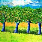Four Purple Trees by Christine Clarke