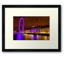 The London Eye & Aquarium at Night Framed Print