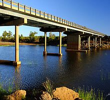 Bridge over Robe River by Julia Harwood