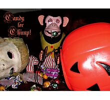 Candy for Chimp (card version 2) Photographic Print