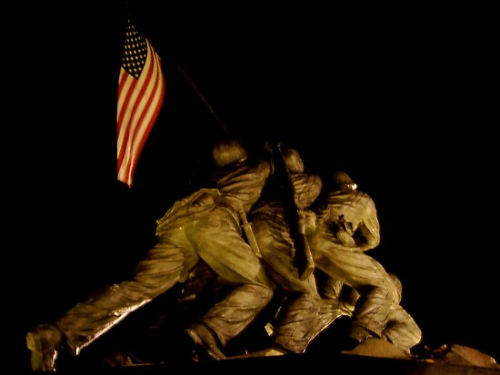Iwo Jima at Night by hcorrigan