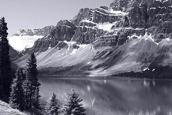 Bow Lake B/W by Vickie Emms