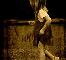 a little girl in a hurry by Clare Colins