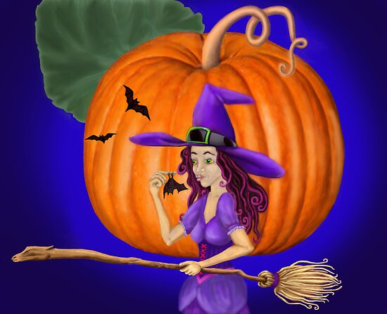 Watch for me by the pumpkin moon by Kestrelle