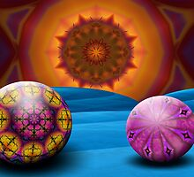 Kaleidoscope Sun Rising On Blue Moon by lacitrouille