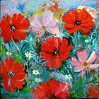 Red Poppies  by Karin Zeller