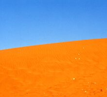 Blue on Orange in the Australia Desert by Michael John