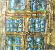 Skipton Castle Windows 2 by Susan Duffey