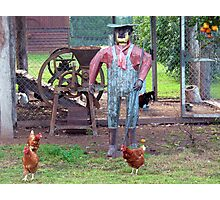 The Old Tin Chook Farmer Photographic Print