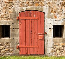 Fortress door in Louisbourg by Robert Kelch, M.D.