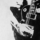 Punk Rocker with Guitar by Sarah McDonald