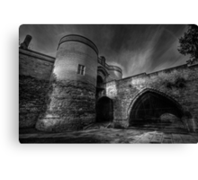 Nottingham Castle v2.0 BW  Canvas Print