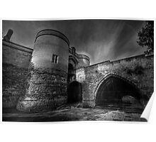 Nottingham Castle v2.0 BW  Poster