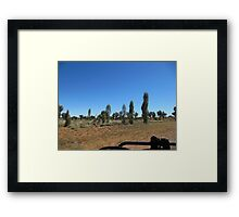 Pleasing scenery Luritja Road,N.Territory Framed Print