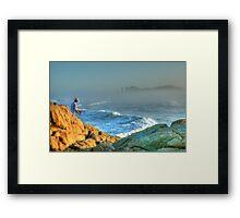 The Lone Fisherman Framed Print