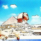 Great Sphinx of Giza - Cartoon Mode by artguy24