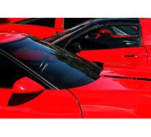 Corvette Red Photographic Print