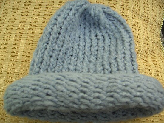 Blue Knitted Woollen Hat by anaisnais