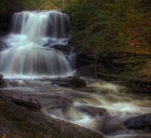 Tuscarora Falls (in full splendor) by Aaron Campbell
