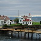 Mukilteo Lighthouse Compound by Marjorie Wallace