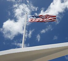 Old Glory Above the USS Arizona by ohhrah
