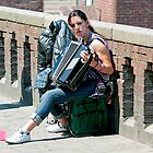 Girl With Accordion by DJohnW