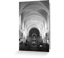 The Benedictine Sanctuary ~ Black & White Greeting Card