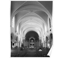 The Benedictine Sanctuary ~ Black & White Poster