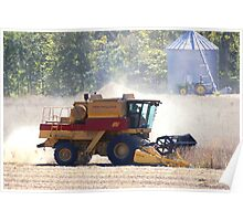 Autumn means Harvesting Soybeans Poster
