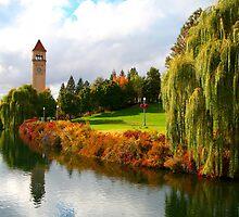 Clocktower - Spokane Riverfront Park by Kathleen Jones