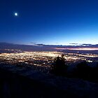 Wide angle of the city of Albuquerque by Ann Reece