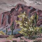 A Desert Scene, too - oil paint by James Lewis Hamilton
