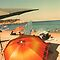 Chileno Beach Umbrellas by Bernadette Claffey