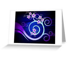 Ravishing beauty of floral designs Greeting Card