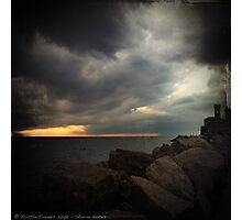 Storm Notes - Piran, Slovenia Photographic Print
