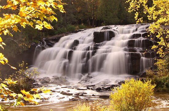 Bond Falls In Autumn by Gina Ruttle  (Whalegeek)