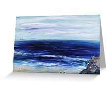 Seascape with White cats Greeting Card