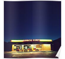 Rainbow Donuts. Poster