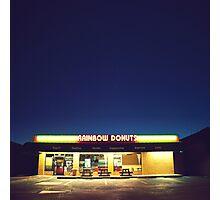 Rainbow Donuts. Photographic Print