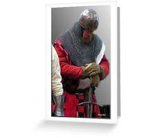 Prayer of a Knight  Greeting Card