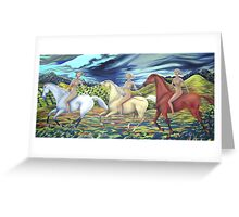 three graces of middle pocket Greeting Card