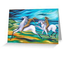 riders -across the ocean Greeting Card