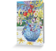 still life by the pool Greeting Card