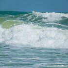 Rough Seas make Beautiful Waves by Caren