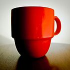 Red Coffee Cup with Shadow by hedidwhat