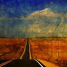 The long road to Santa Fe NM by Susanne Van Hulst