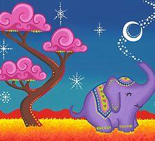 Elephant making magic by Elspeth McLean